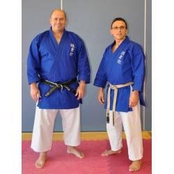 Veste Kimono bleue GOSHIN JUTSU, Kamikaze, brodé