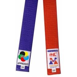 Pack ceinture compétition Rouge & Bleu Kamikaze WKF