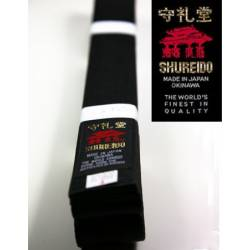 Silk-satin BLACK BELT SHUREIDO