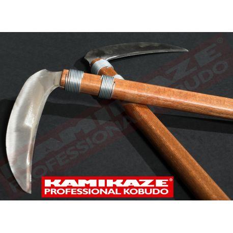 KAMA KAMIKAZE PROFESSIONAL KOBUDO, oak with stainless steel edges, pair