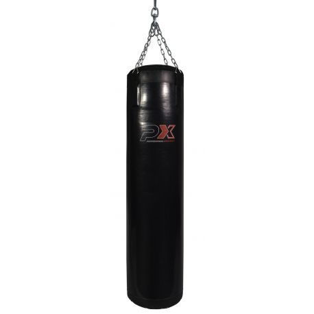 PROFESSIONAL XPERIENCE punching bag, black vinyl, 100x35 cm, chains included, filled