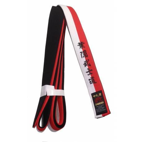 Ceinture Shureido Rouge, blanche et noir spéciale RENSHI