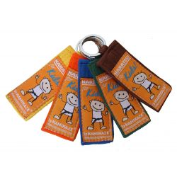"Kamikaze-keyring ""for KIDS"" for kyu grades, color belt"