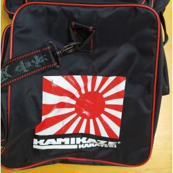 KARATE BAG KAMIKAZE 63 x 26 x 30 cm, black, WITH PRINTING DEFECTS